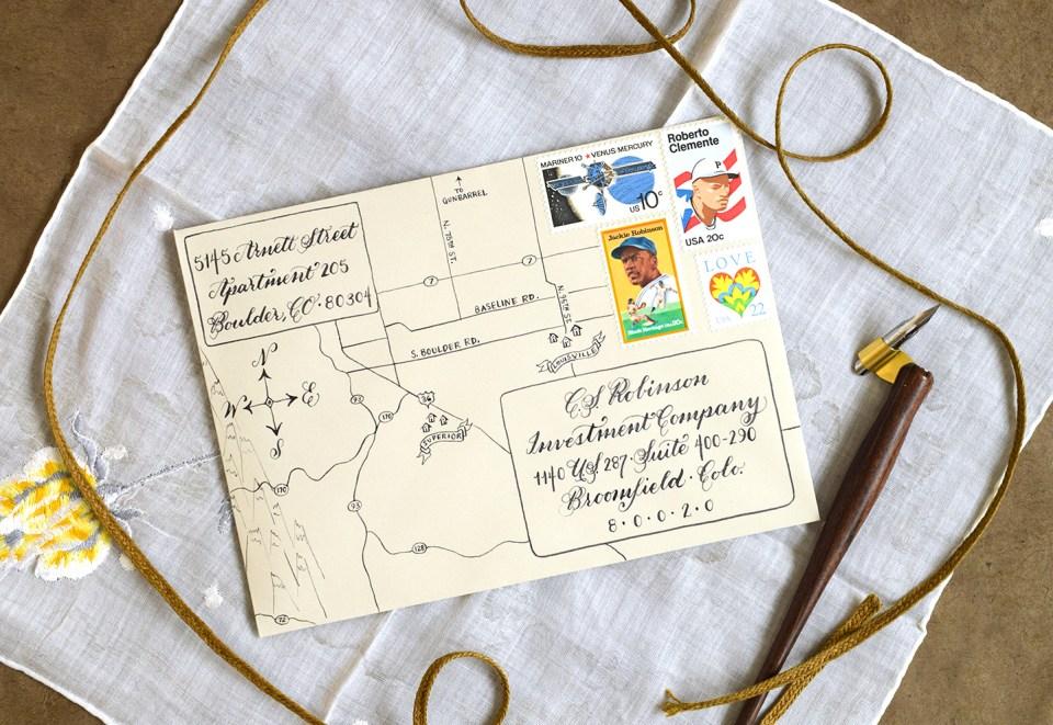 Map-Inspired Envelope | The Postman's Knock