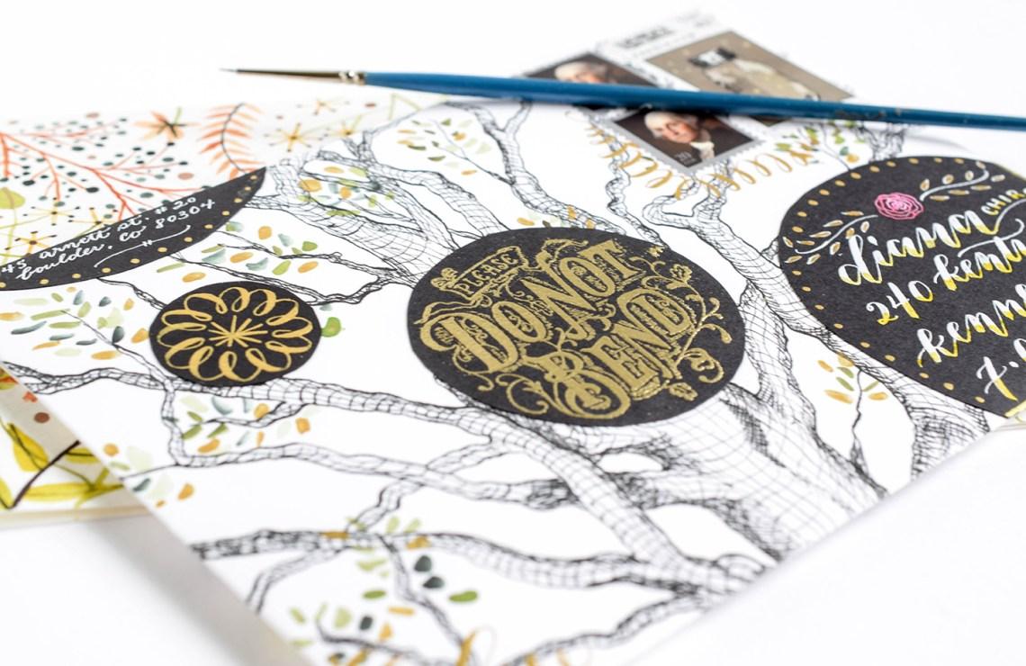 Artistic Handmade Envelope | The Postman's Knock