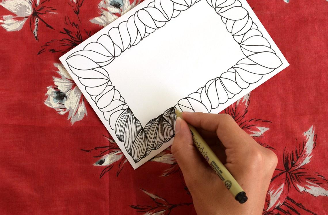 Hand Drawn Frame Tutorial | The Postman's Knock