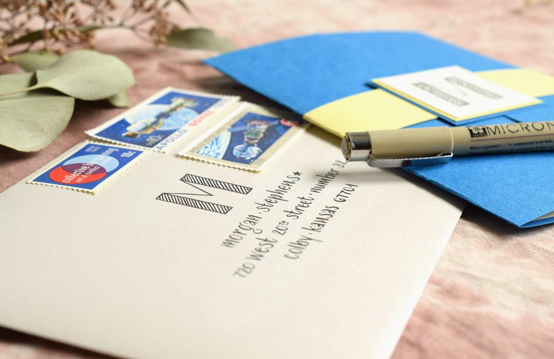 Lettered Handmade Birthday Card Tutorial | The Postman's Knock