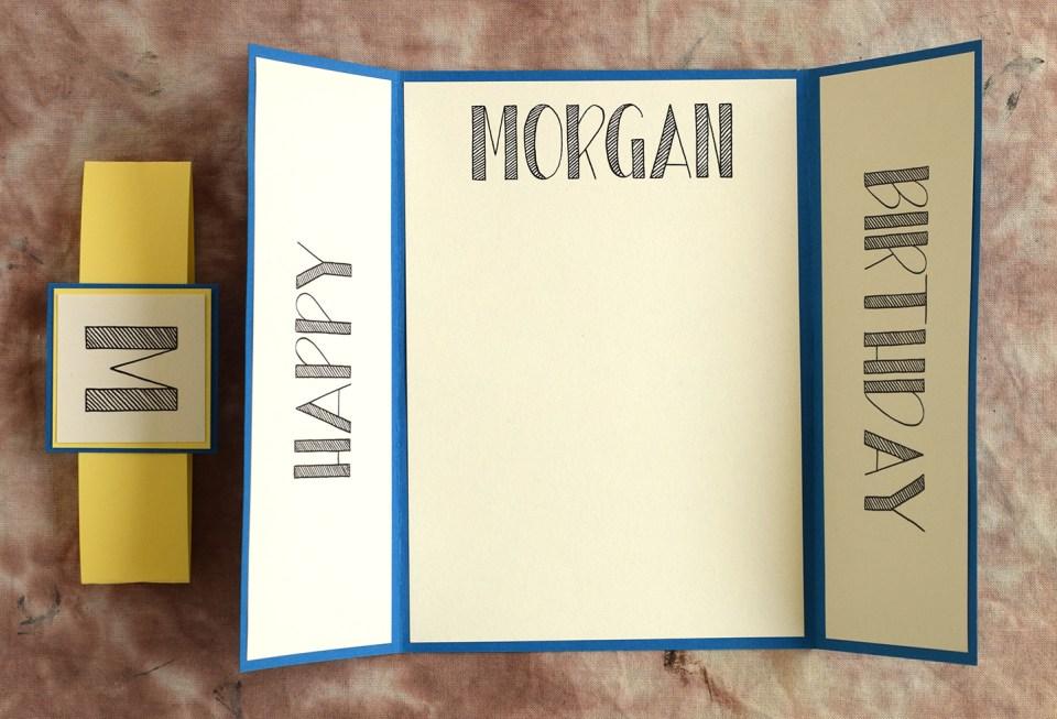 Lettered Handmade Birthday Card Tutorial The Postmans Knock