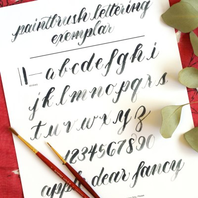 How to Create Paintbrush Lettering + A Free Exemplar