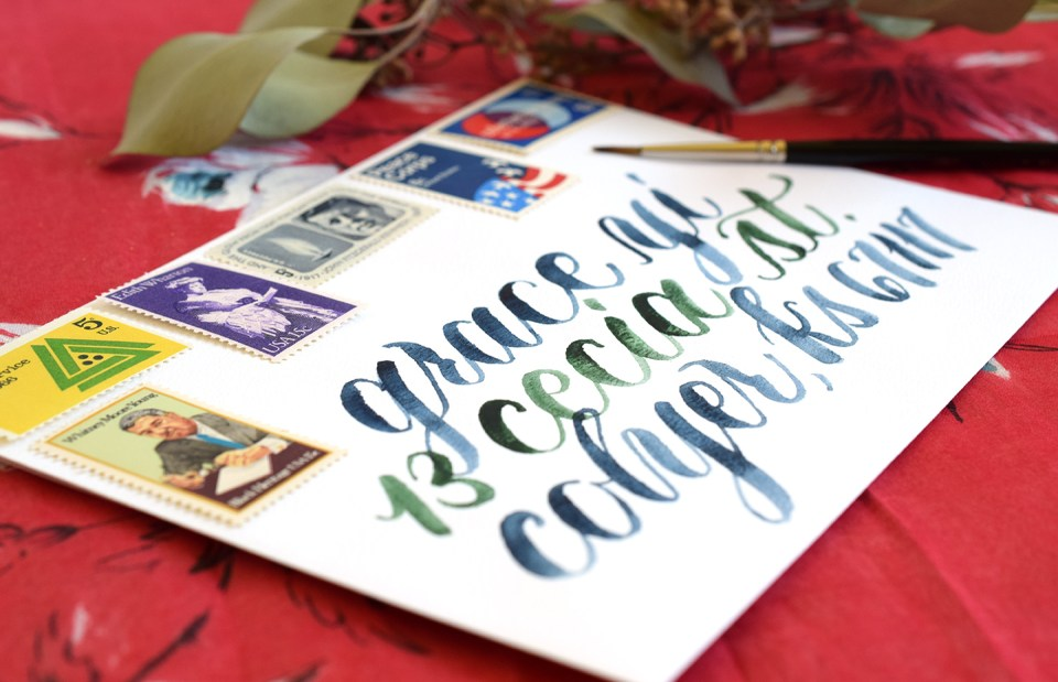 How to Create Paintbrush Lettering + A Free Exemplar | The Postman's Knock
