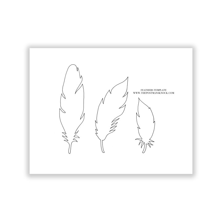 Paper Feathers Template | The Postman's Knock