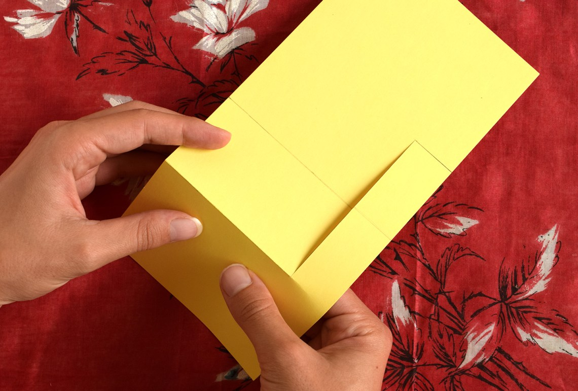 Folded Stand Up Card Tutorial | The Postman's Knock