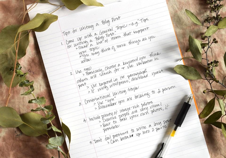 Six Tips for Writing a Blog Post | The Postman's Knock