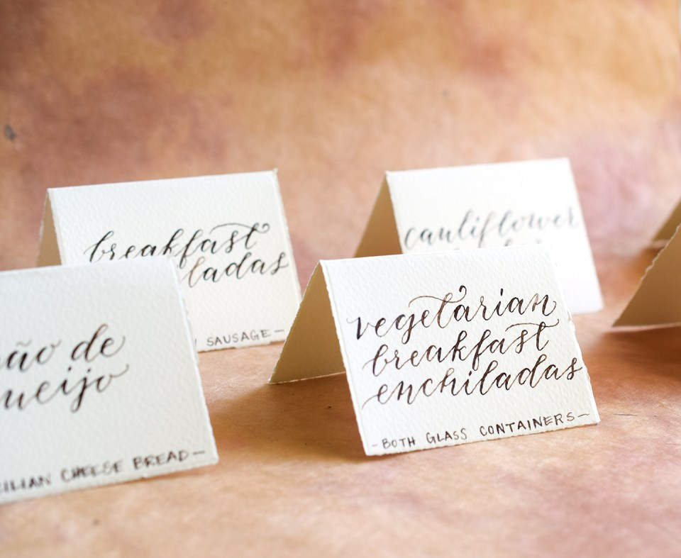 Calligraphed Food Labels | The Postman's Knock