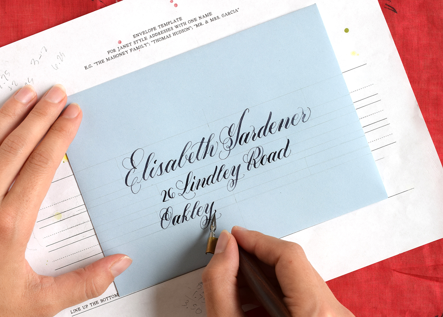how to make calligraphy guidelines the postman s knock