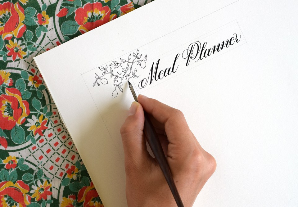 Illustrated Printable Menu Planner | The Postman's Knock