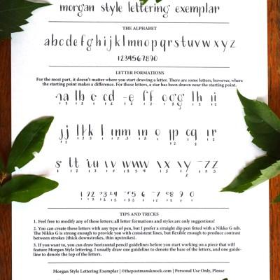 Morgan Style Free Hand-Lettering Exemplar