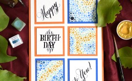 Artistic Watercolor Birthday Card Tutorial | The Postman's Knock