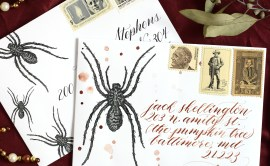 Spider Halloween Mail Art Printables | The Postman's Knock