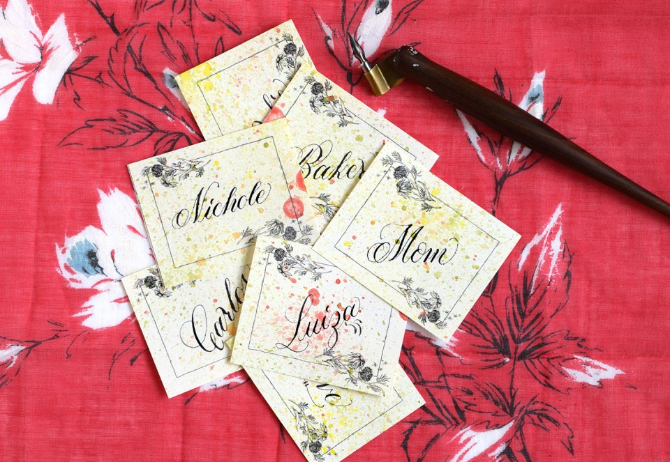 Floral Artistic Gift Tags Tutorial | The Postman's Knock