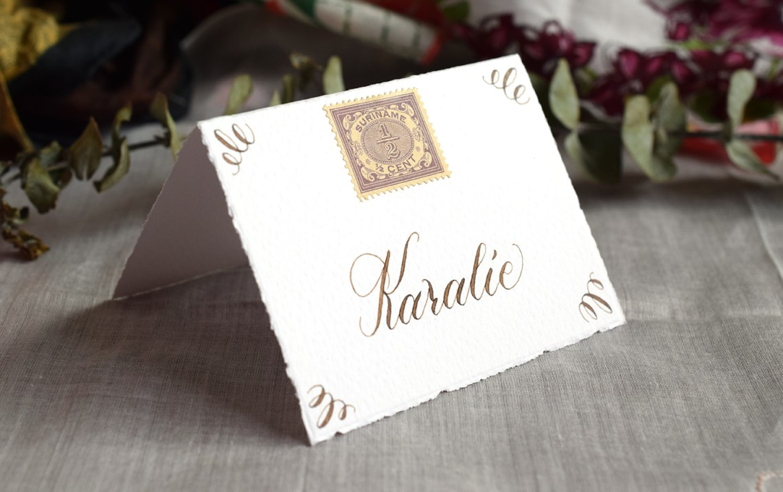 Basic Calligraphy Place Cards Tutorial | The Postman's Knock