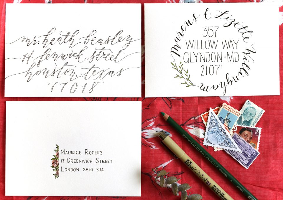 Faux Calligraphy | The Postman's Knock