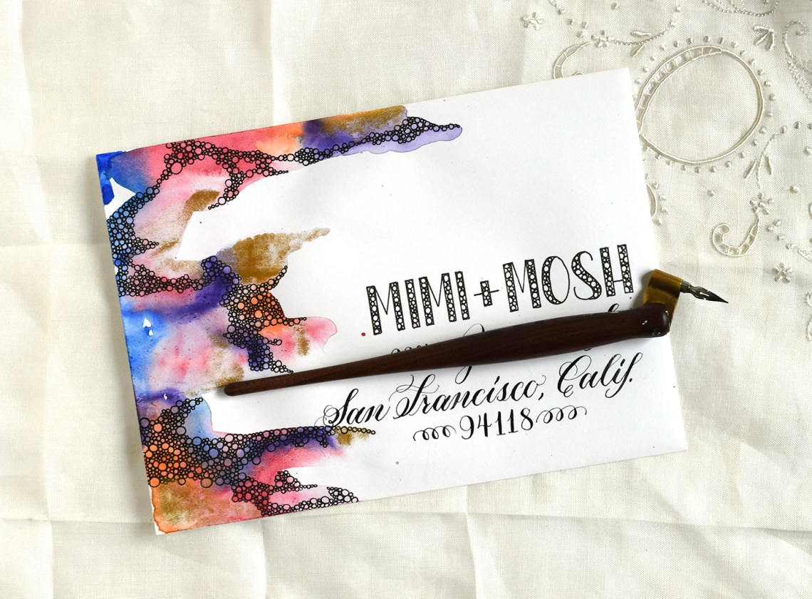 Three creative envelope design mini tutorials the What side of envelope does stamp go on