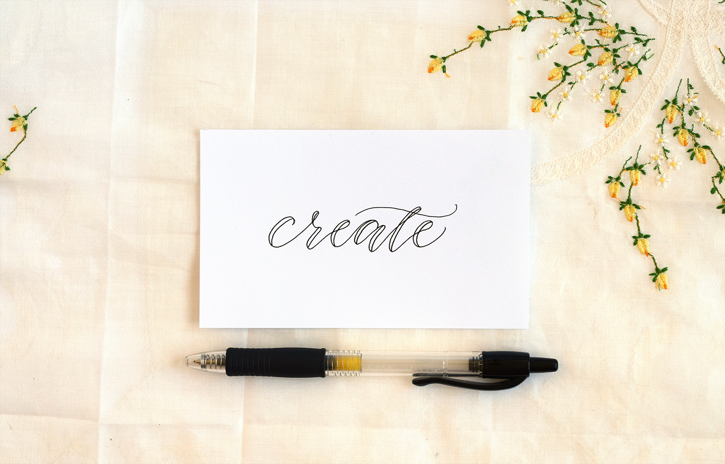 Faux calligraphy tutorial the postman s knock