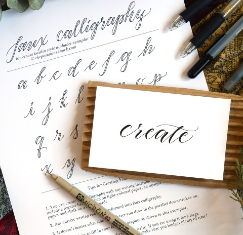 How to Make Faux Calligraphy | The Postman's Knock