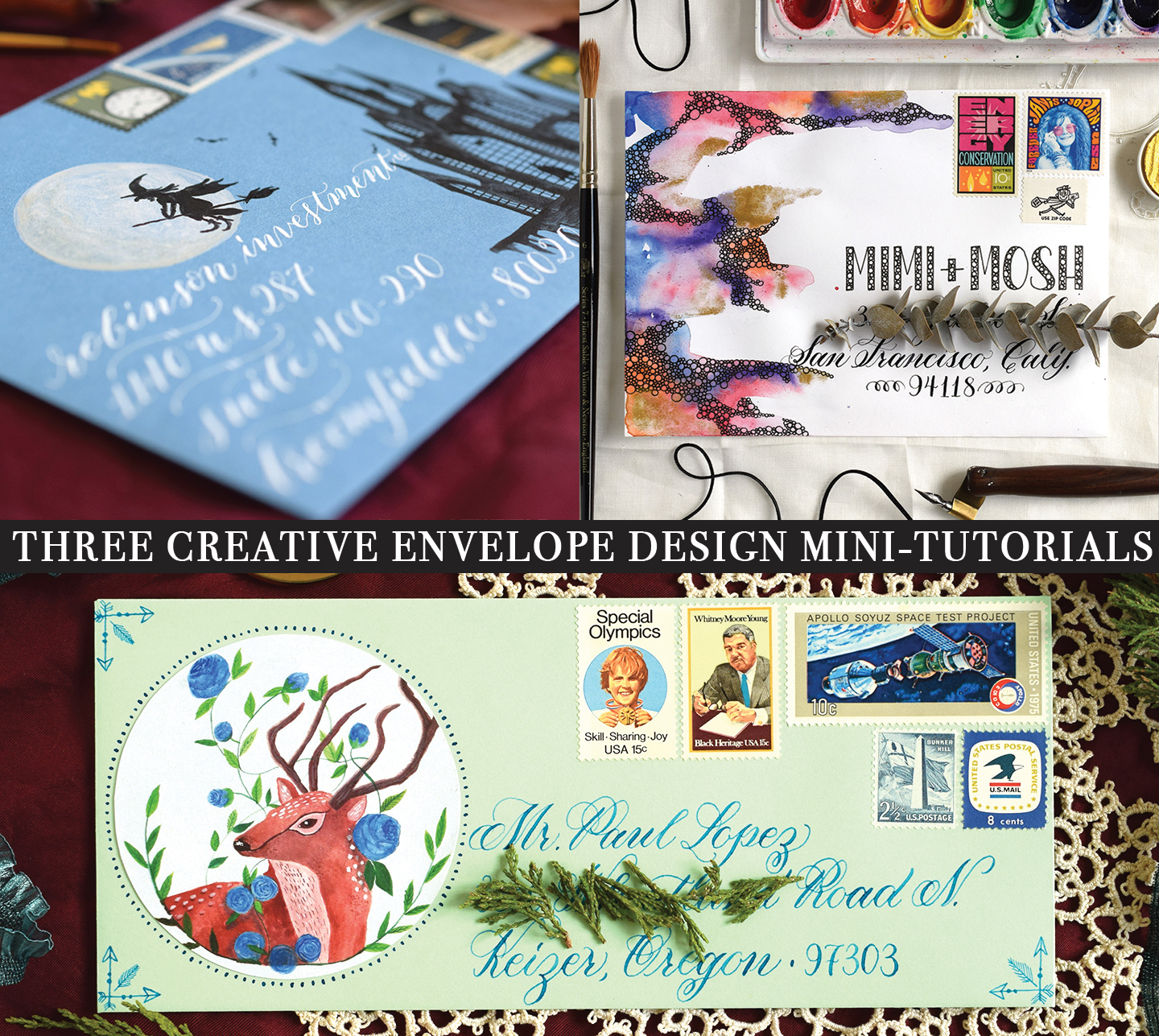 Three Creative Envelope Design Mini-Tutorials