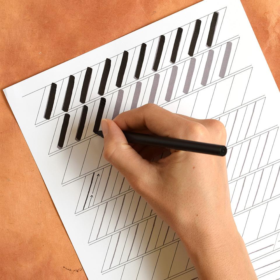 Premium brush pen calligraphy worksheet videos kaitlin