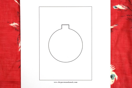 Cut-Out Ornament DIY Holiday Card Template | The Postman's Knock