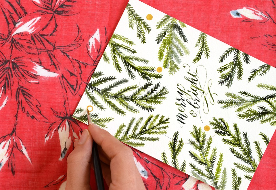 Cut-Out Ornament DIY Holiday Card Tutorial | The Postman's Knock