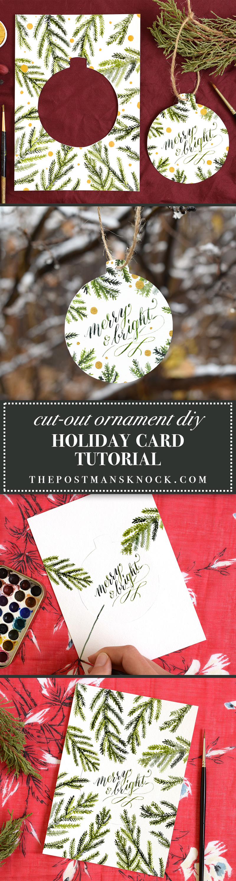 Cut Out Ornament DIY Holiday Card Tutorial | The Postman's Knock
