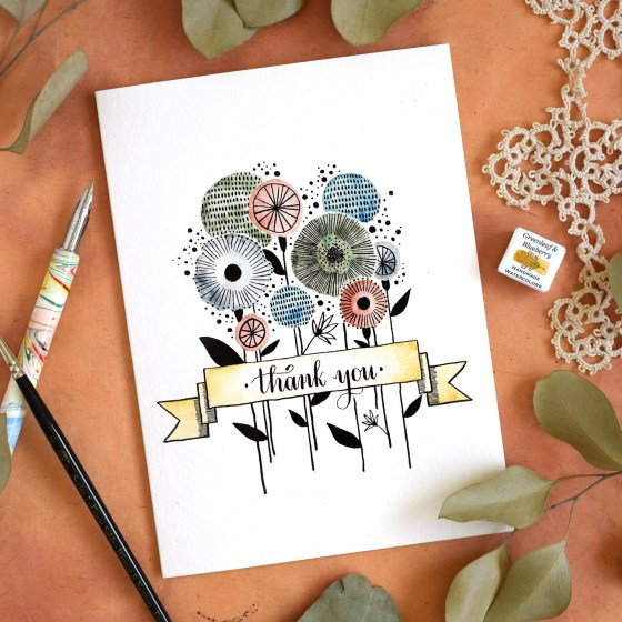 Banner on Thank You Card | The Postman's Knock