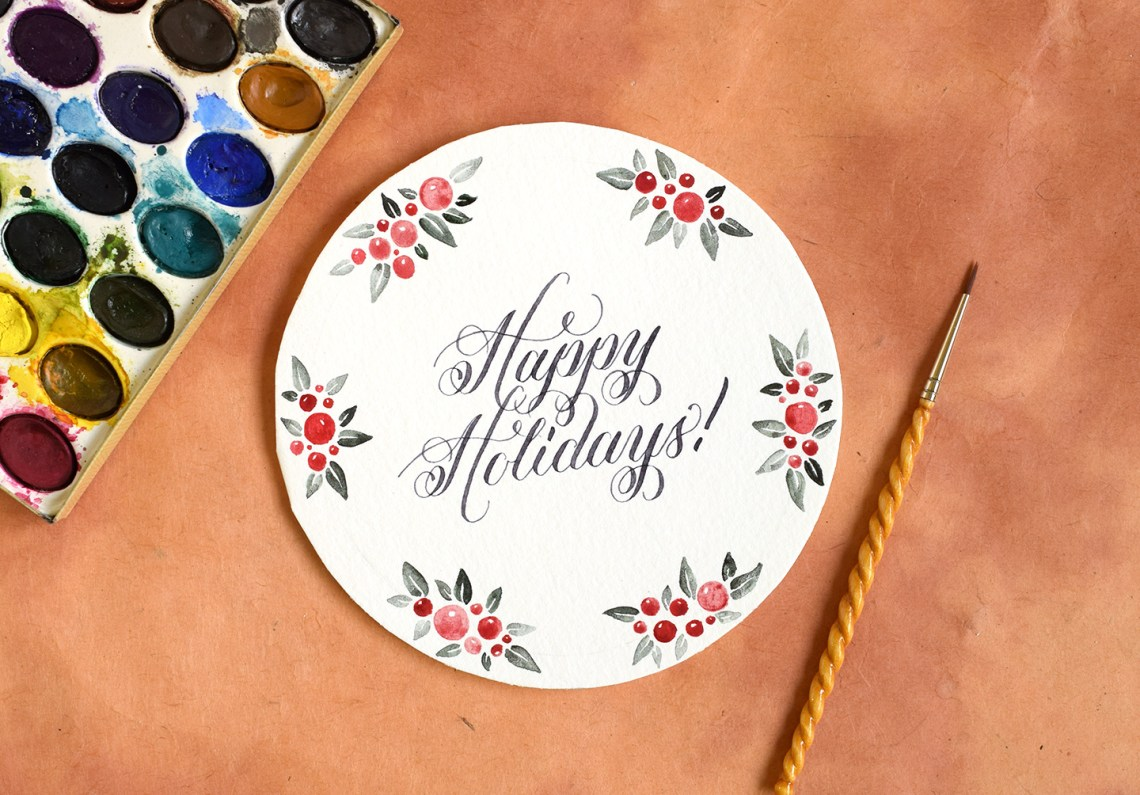 Circular DIY Christmas Card Tutorial | The Postman's Knock