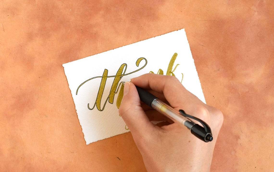 Two Artistic Brush Pen Lettering Tutorials | The Postman's Knock