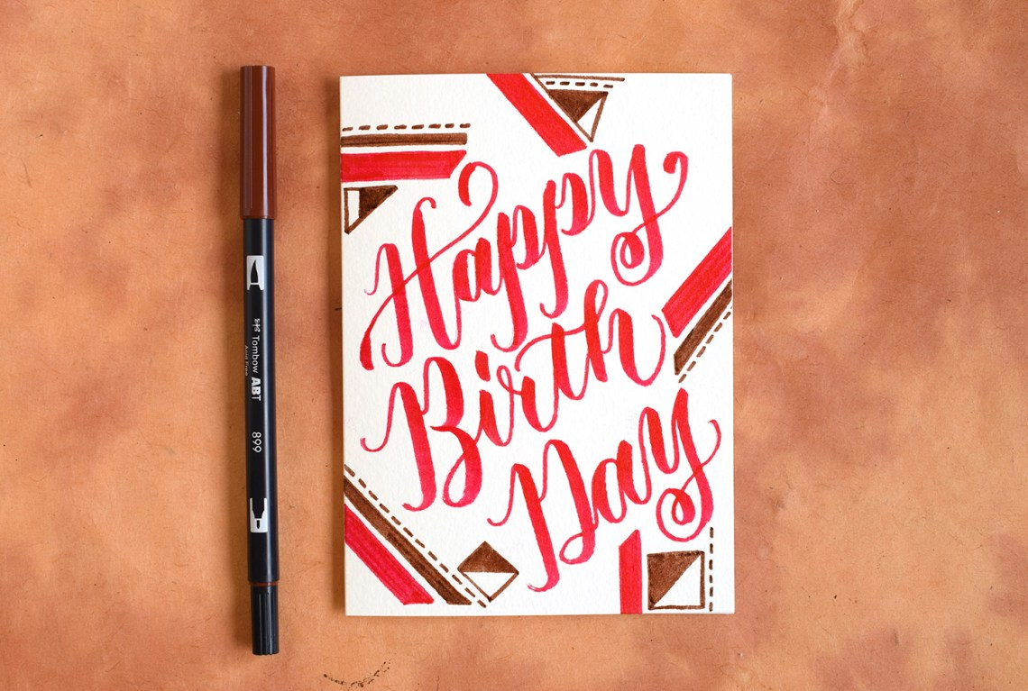 Two Artistic Brush Pen Lettering Tutorials   The Postman's Knock