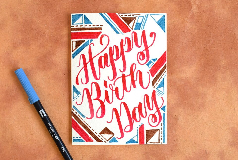 Two artistic brush pen lettering tutorials the postman s