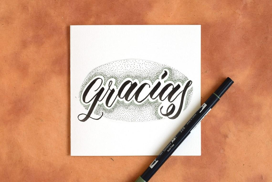 Two More Artistic Brush Pen Lettering Tutorials   The Postman's Knock