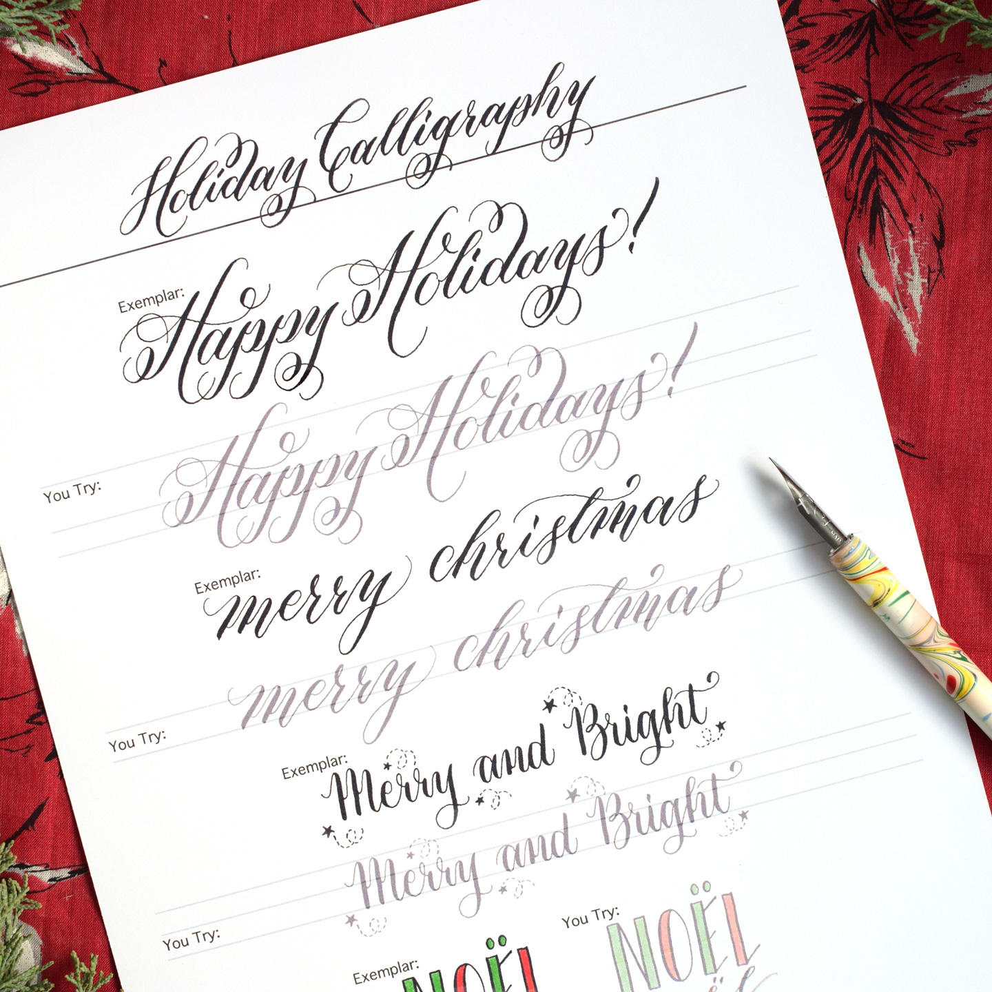 Free Holiday Calligraphy Exemplar The Postman 39 S Knock