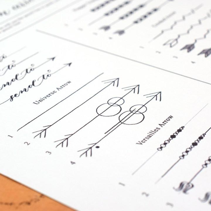 Eight Hand-Drawn Arrow Designs (Free Printable) | The Postman's Knock