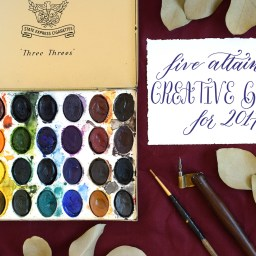 Five Attainable Creative Goals for 2017 | The Postman's Knock