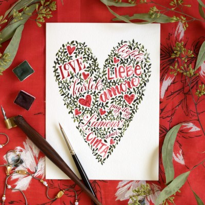 Words and Vines Valentine's Day Card Tutorial