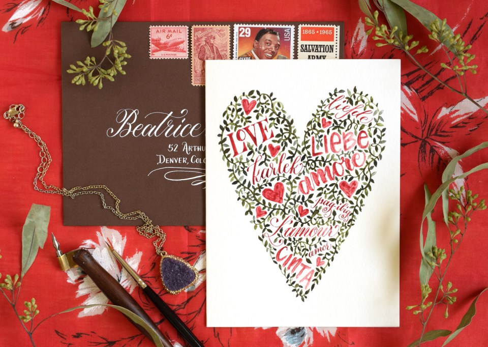 and Vines Valentines Day Card Tutorial – Valentine Card Words