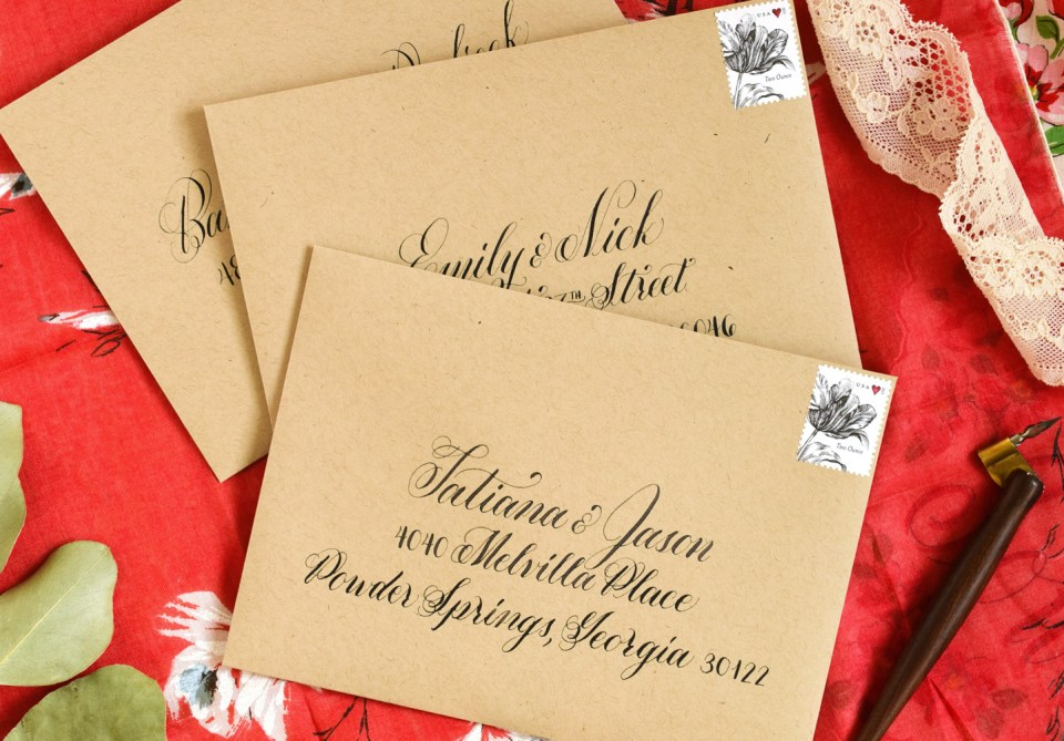 How to Space Calligraphy on Envelopes | The Postman's Knock