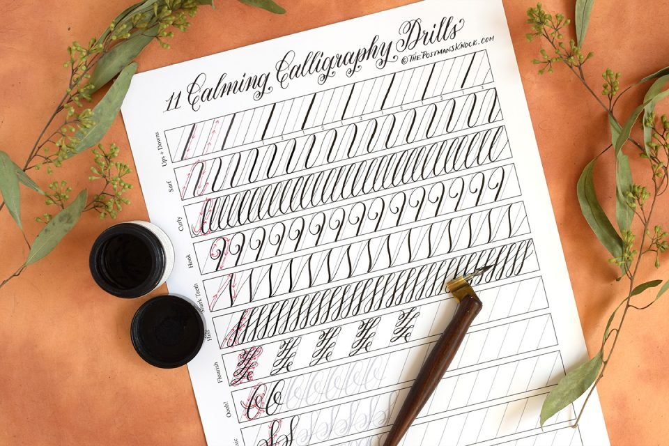 Printable Birthday Reminder Sheet ~ Free printables that will improve your calligraphy this month