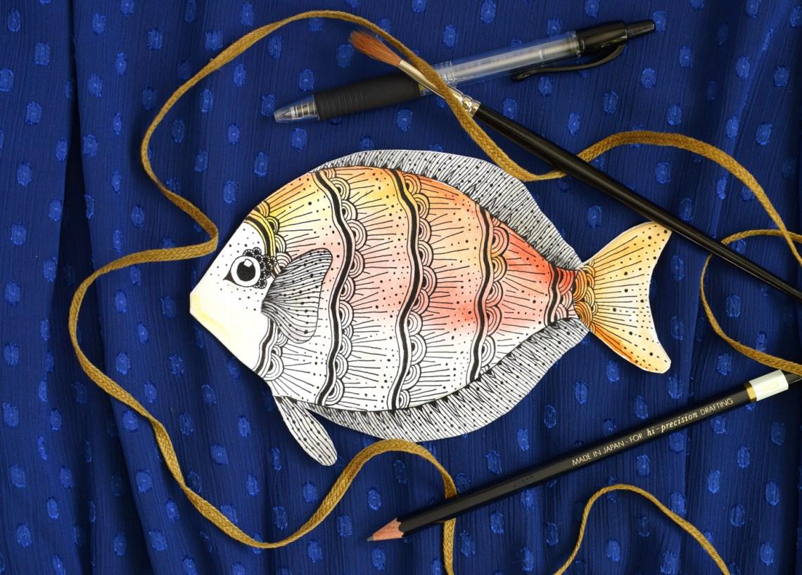 Embellished Fish DIY Card Tutorial   The Postman's Knock