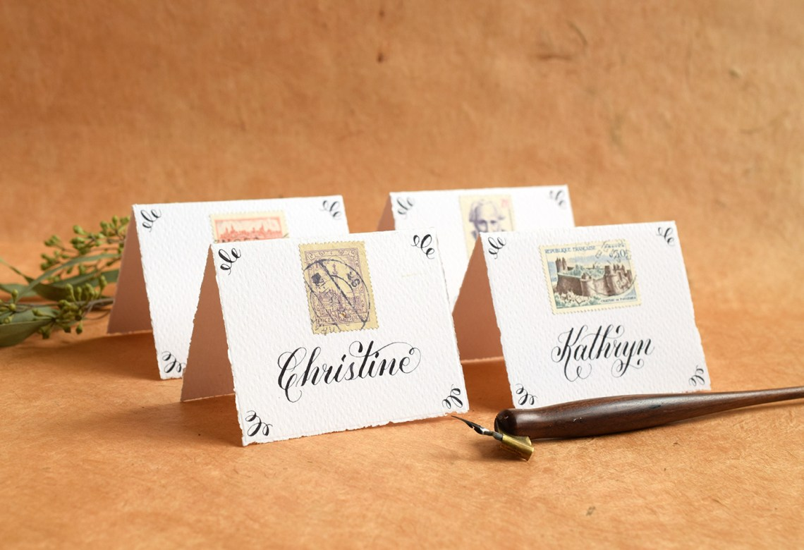 Iron Gall Ink Place Cards | The Postman's Knock