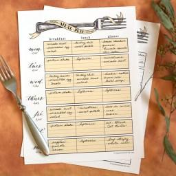 Artistic Printable Meal Planner   The Postman's Knock