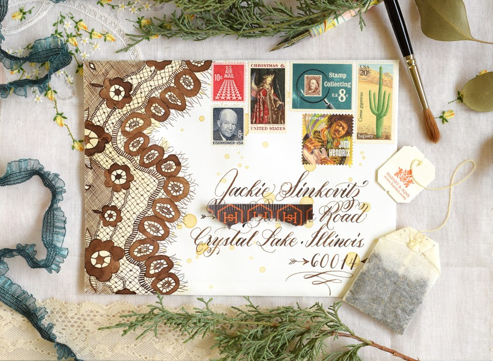 How to Make a Stunning Postage Stamp Collage | The Postman's Knock