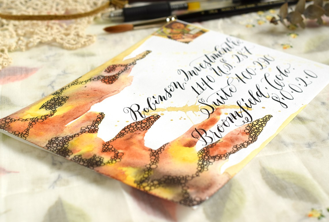 How to Space Calligraphy on Envelopes   The Postman's Knock