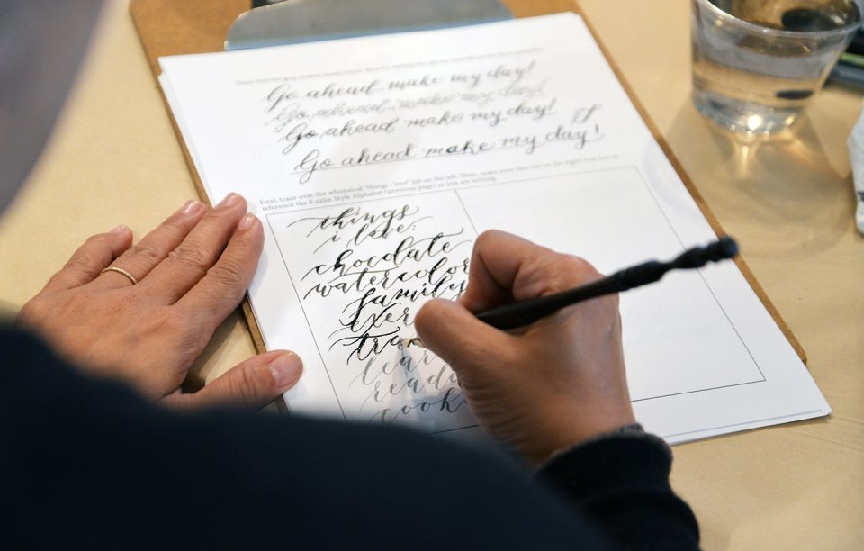 Calligraphy Beginner Writing | The Postman's Knock
