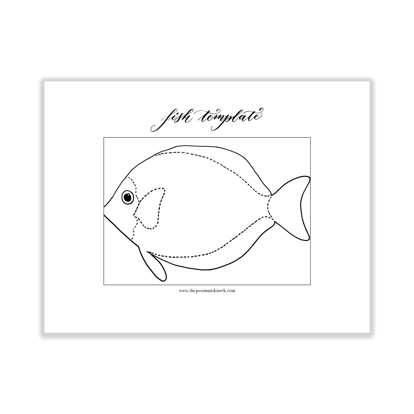 printable fish template the postmans knock