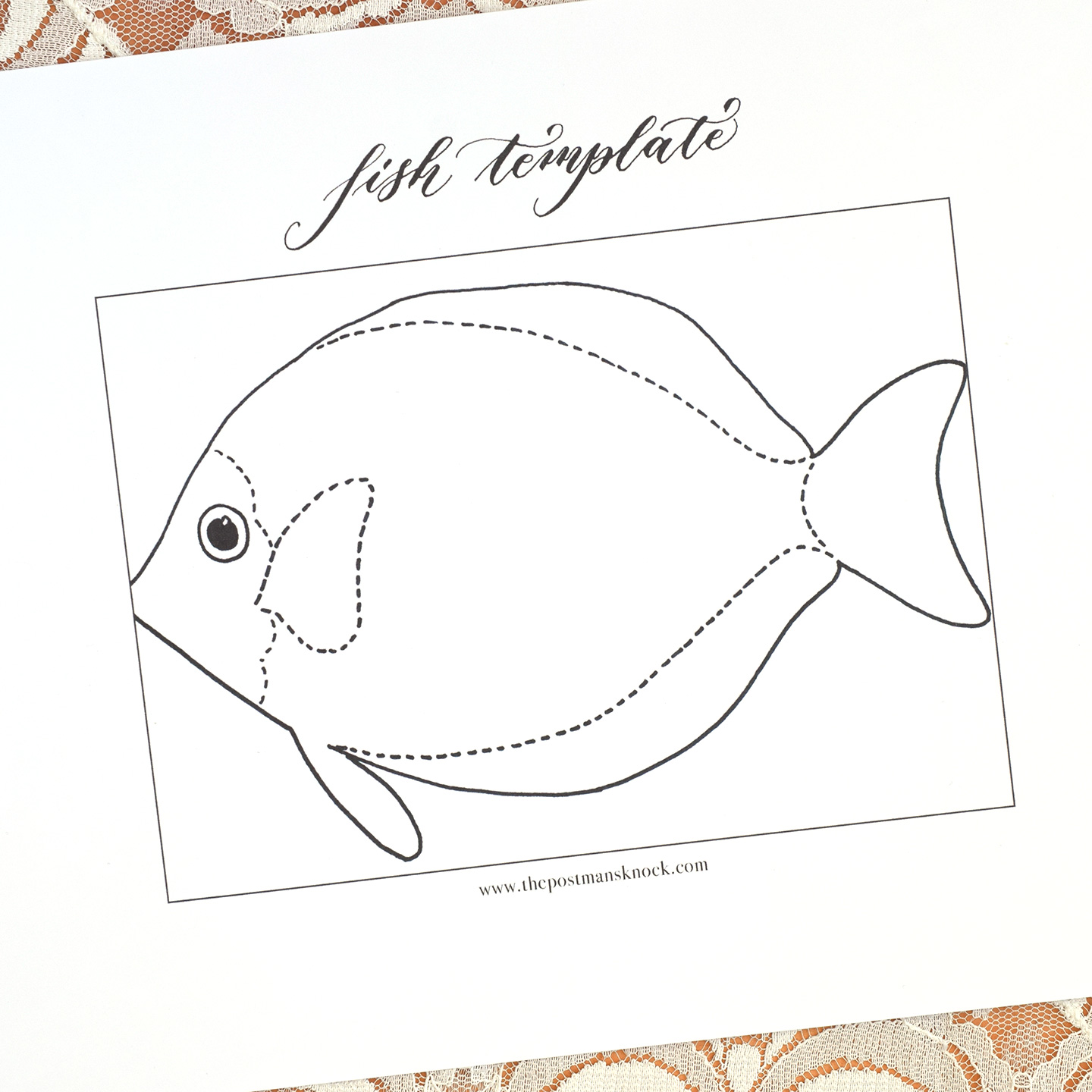 Printable Fish Template