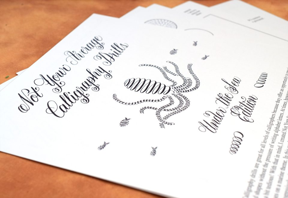 Not Your Average Calligraphy Drills: Under the Sea Edition | The Postman's Knock