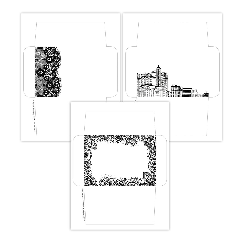 Pen Amp Ink Printable Envelope Templates